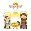 Messenger angel over white background vector illustration Stock Photography