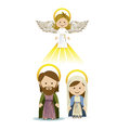 Messenger angel over white background vector illustration Stock Photo