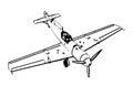 Messerschmitt BF109 trop figter Royalty Free Stock Photo
