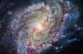 Messier 83, Southern Pinwheel Galaxy, M83 in the constellation H Royalty Free Stock Photo