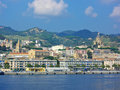 Messina, Sicily from the water Stock Photo