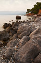Messinian岩石海景 免版税库存照片