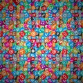 Messy apps pattern random multicolored web icons eps background with Royalty Free Stock Photos