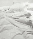 Messy bed sheets Royalty Free Stock Photo