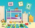 Messy Children Room Interior