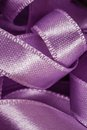 Messy Mess Purple Satin Ribbons Royalty Free Stock Image