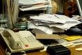 Chaotický kancelária písací stôl