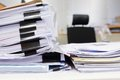 Messy office table with business documents Royalty Free Stock Image
