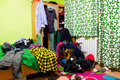 Messy room Royalty Free Stock Photo