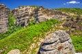 Metéora mountains of in greece Royalty Free Stock Photos