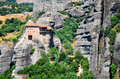 Metéora mountains of in greece Stock Photo