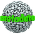 Meta data number pound hash tag sphere metadata hashtags a ball or of tags or signs and the word to illustrate posts and published Stock Photo