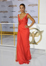 Meta golding los angeles ca november actress at the los angeles premiere of the hunger games mockingjay part one at the nokia Stock Photography