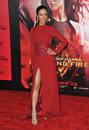 Meta golding los angeles ca november at the us premiere of her movie the hunger games catching fire at the nokia theatre la live Stock Image