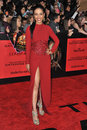 Meta golding the used at us premiere of her movie hunger games catching fire at nokia theatre la live november los angeles ca Royalty Free Stock Image