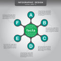 Metaball colorful symmetric diagram infographics for presentations flat design Royalty Free Stock Image