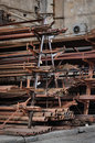 Metail reinforcement store rusty grungy and scrap metal Royalty Free Stock Image