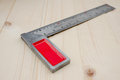Metal angle ruler Royalty Free Stock Photo