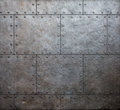 Metal armor plates background old Stock Photos