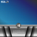 Metal background blue silver vector Royalty Free Stock Images