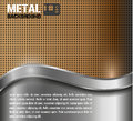 Metal background brown silver vector Royalty Free Stock Photos
