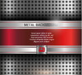 Metal background vector red silver Royalty Free Stock Photography