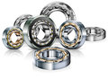 Metal bearings on white Royalty Free Stock Photo