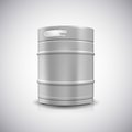 Metal beer keg with grained and shadow vector illustration Royalty Free Stock Photography