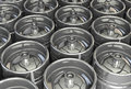 Metal beer kegs d illustration Stock Photography