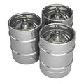 Metal beer kegs isolated on white background Stock Photography
