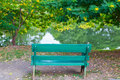 Metal bench in park bangkok thailand vachirabenjatas rot fai Royalty Free Stock Photo
