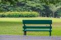 Metal bench in park bangkok thailand vachirabenjatas rot fai Stock Photos