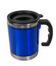 Metal blue cup. Royalty Free Stock Photo