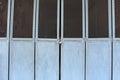 Metal blue door with lock Royalty Free Stock Photo