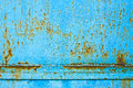 Metal blue rusty texture Royalty Free Stock Photo