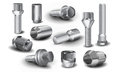 Metal bolts, nuts and screws Royalty Free Stock Image