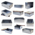 Metal boxes Royalty Free Stock Image