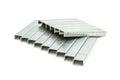 Metal brackets for stapler Royalty Free Stock Photo