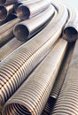 Metal braid metallic stainless steel corrugated hose Royalty Free Stock Photography