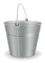 Metal bucket vector illustration of Royalty Free Stock Images