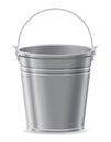 Metal bucket vector illustration Royalty Free Stock Photo