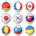 Metal button national flag Royalty Free Stock Photos