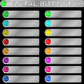 Metal buttons Royalty Free Stock Photos