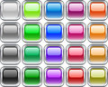 Metal buttons. [Vector] Royalty Free Stock Images