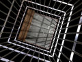 Metal cage 3d, concept of jail 01 Royalty Free Stock Photo
