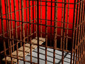 Metal cage 3d, concept of jail Royalty Free Stock Images