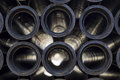 Metal, cast iron pipes Royalty Free Stock Photo