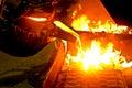 Metal casting process Stock Images
