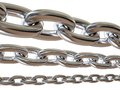 Metal chain isolated Royalty Free Stock Image