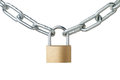 metal chain and padlock Royalty Free Stock Photo